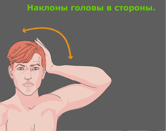Профилактика шейного остеохондроза: наклоны головы в сторону