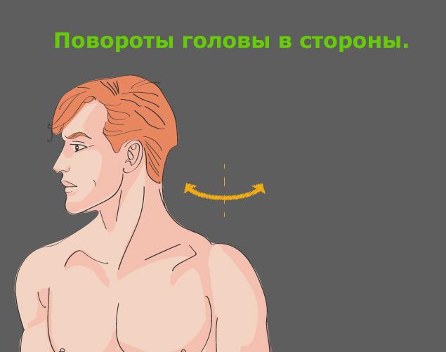 Профилактика шейного остеохондроза: повороты головы в стороны